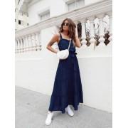 Vestido Simone Midi Com Detalhe Entremeio E Botoes