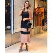 Vestido Talita Longuete Tweed Bicolor