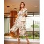 Vestido Alessandra Midi Floral Detalhe Pregas