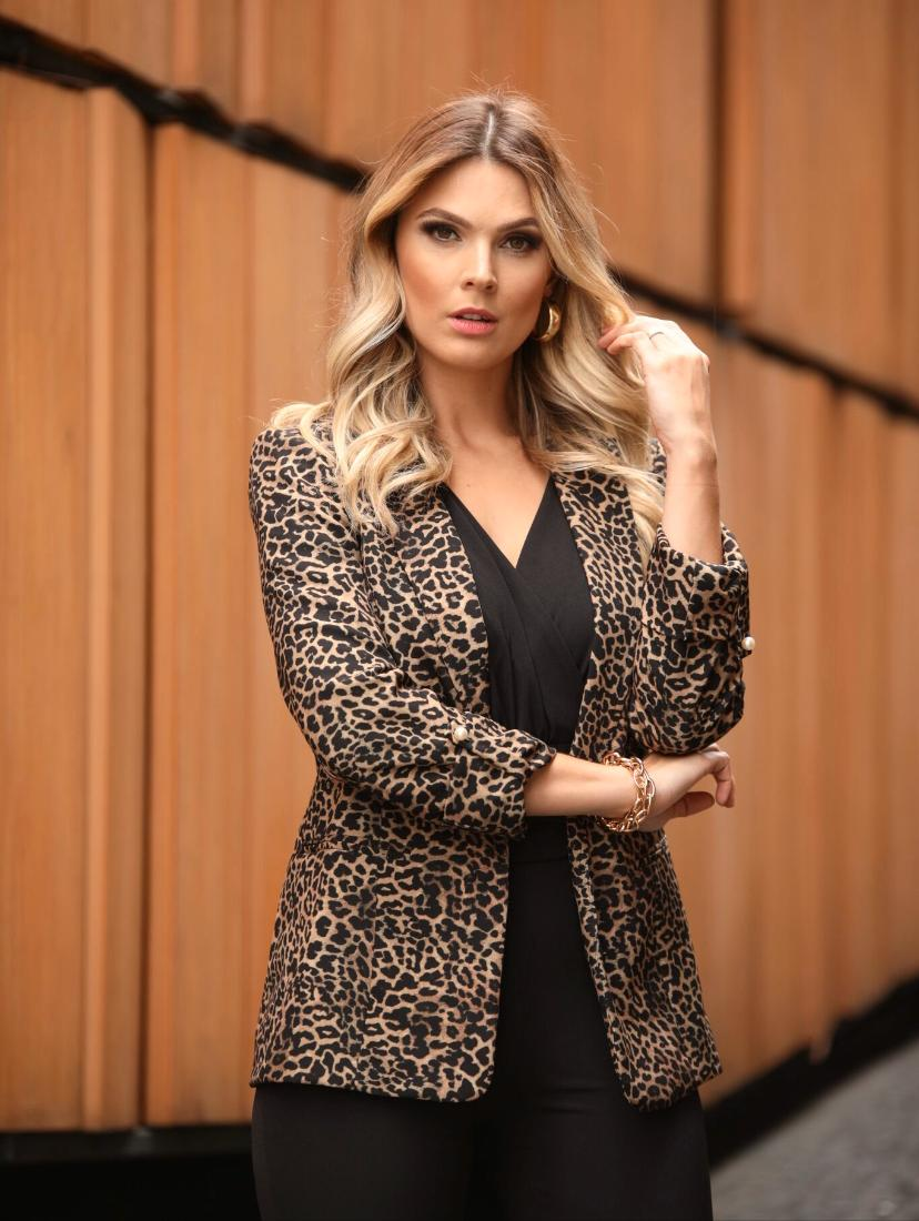 Blazer Mirella  Boyfriend Martingale  Onça