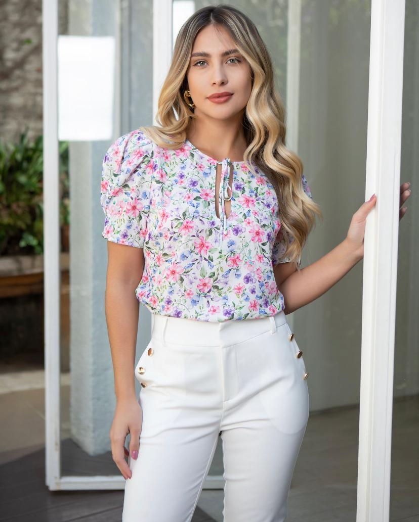 Blusa Alexandra Crepe Floral