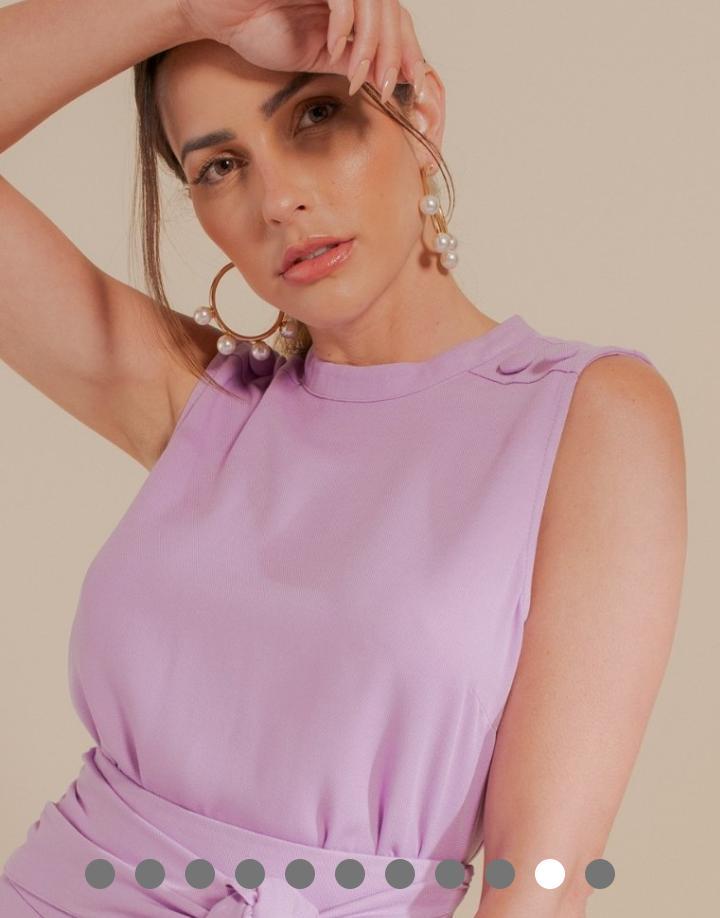 Blusa Alice Viscose Detalhe Botões Ombro