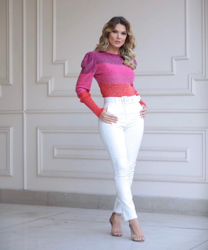 Blusa Ana Tricot Lurex