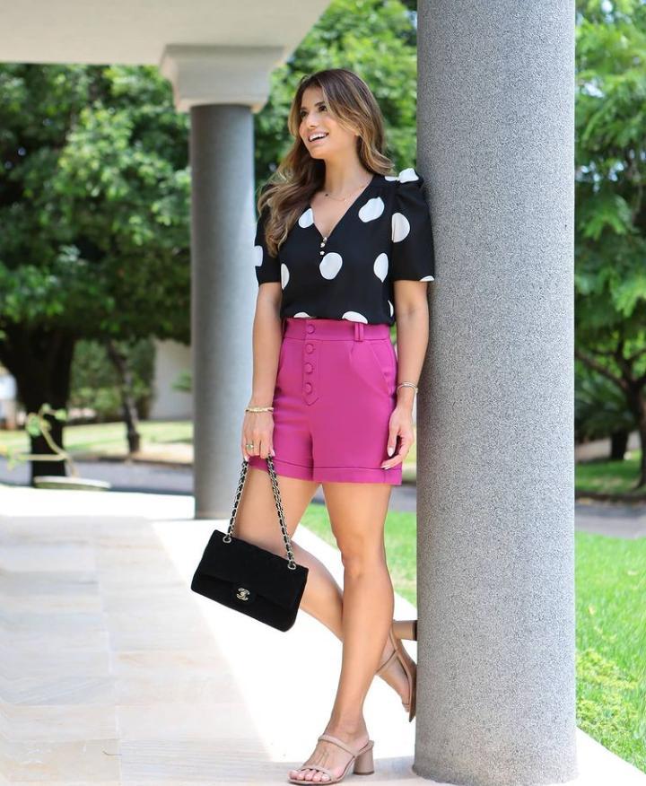 Blusa Ariane Crepe Maxi Poás