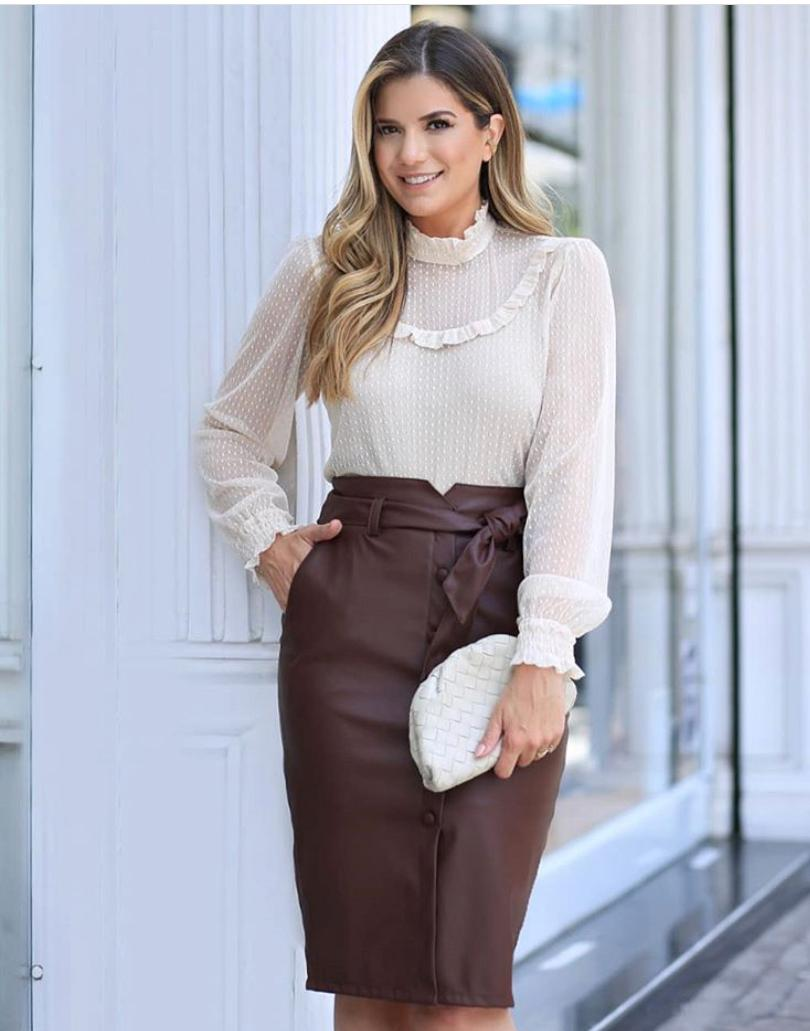 Blusa Ariane Tule MG/Longa + Regata