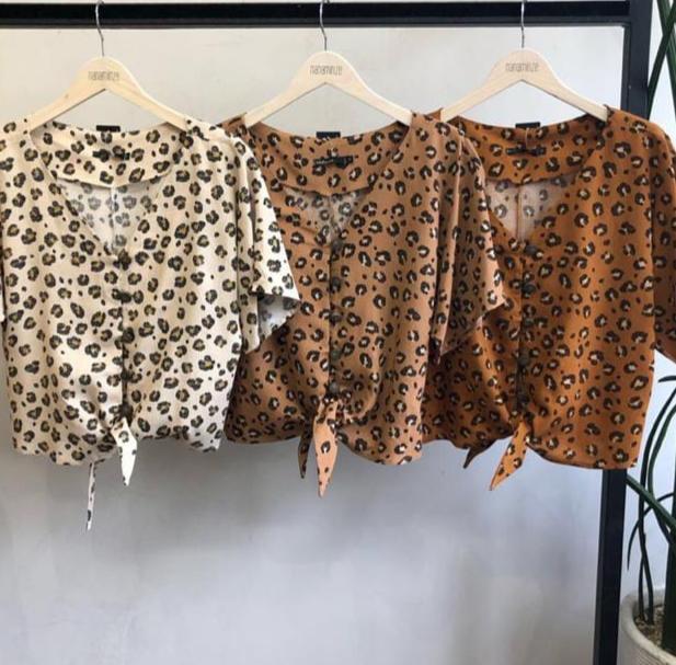 Blusa Bella viscolinho cores :marron, telha e areia