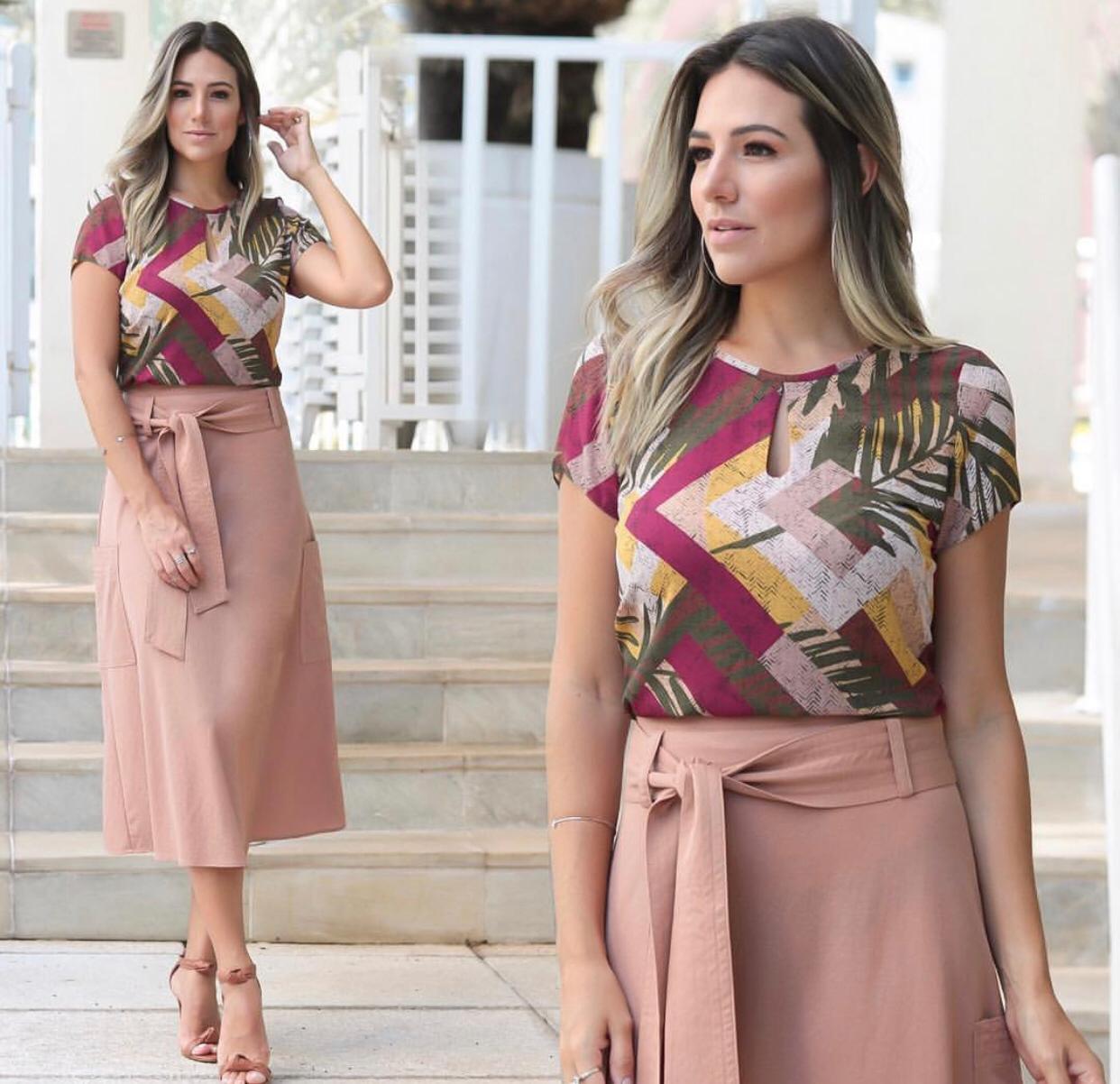 Blusa Camila Crepe Print