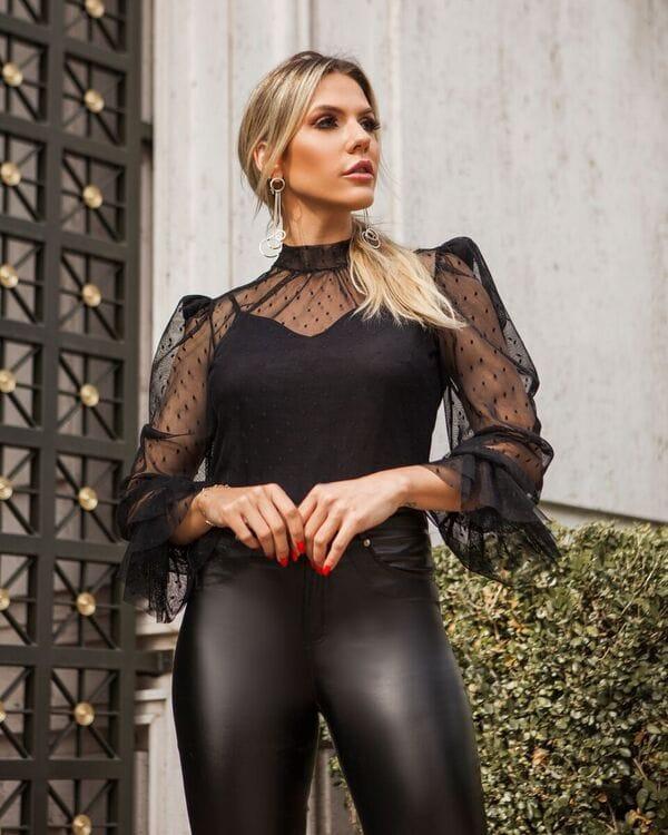 Blusa Camila Tule + Regata