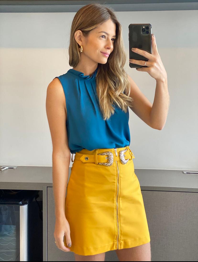 Blusa Carla Crepe Basic