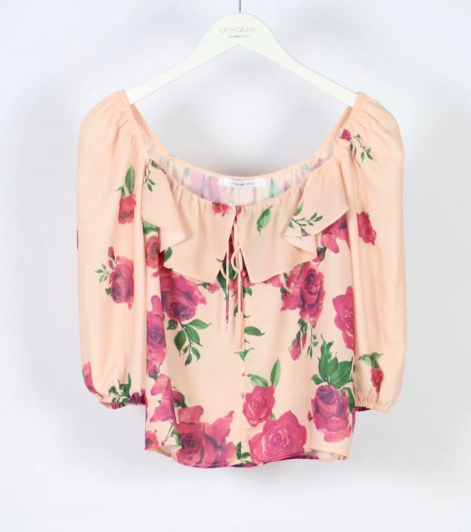 Blusa Fernanda Crepe Floral