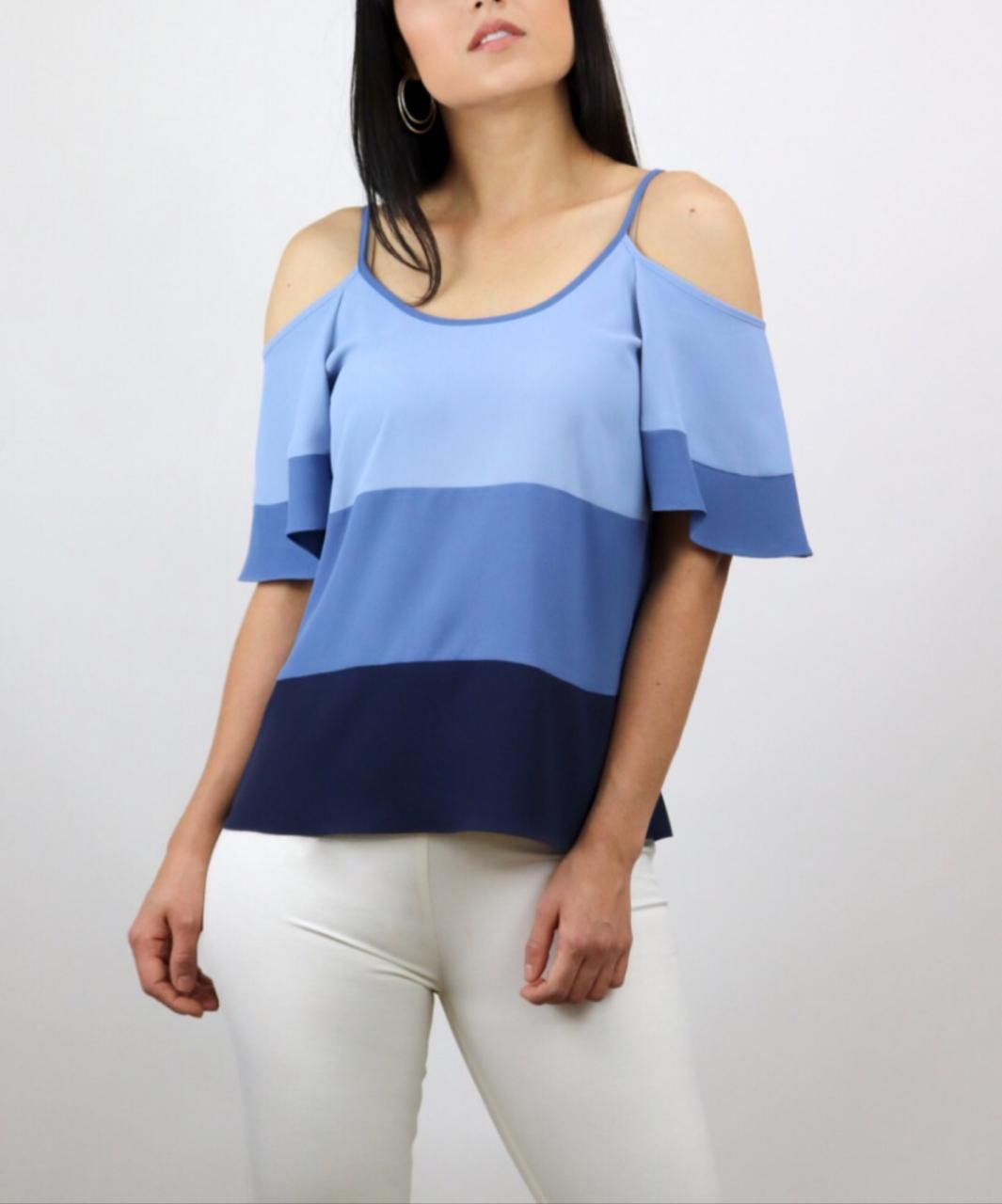 BLUSA GEISA CREPE COLOR