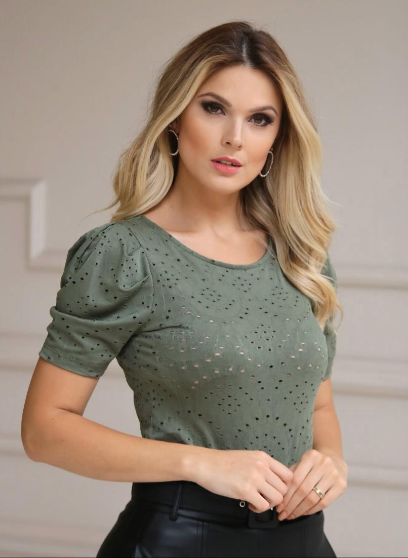 Blusa Gisele Malha Laise (Verde)