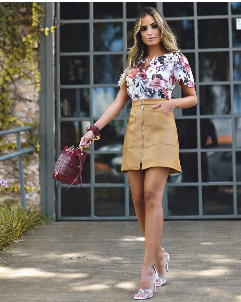Blusa Julie Crepe Floral  Off