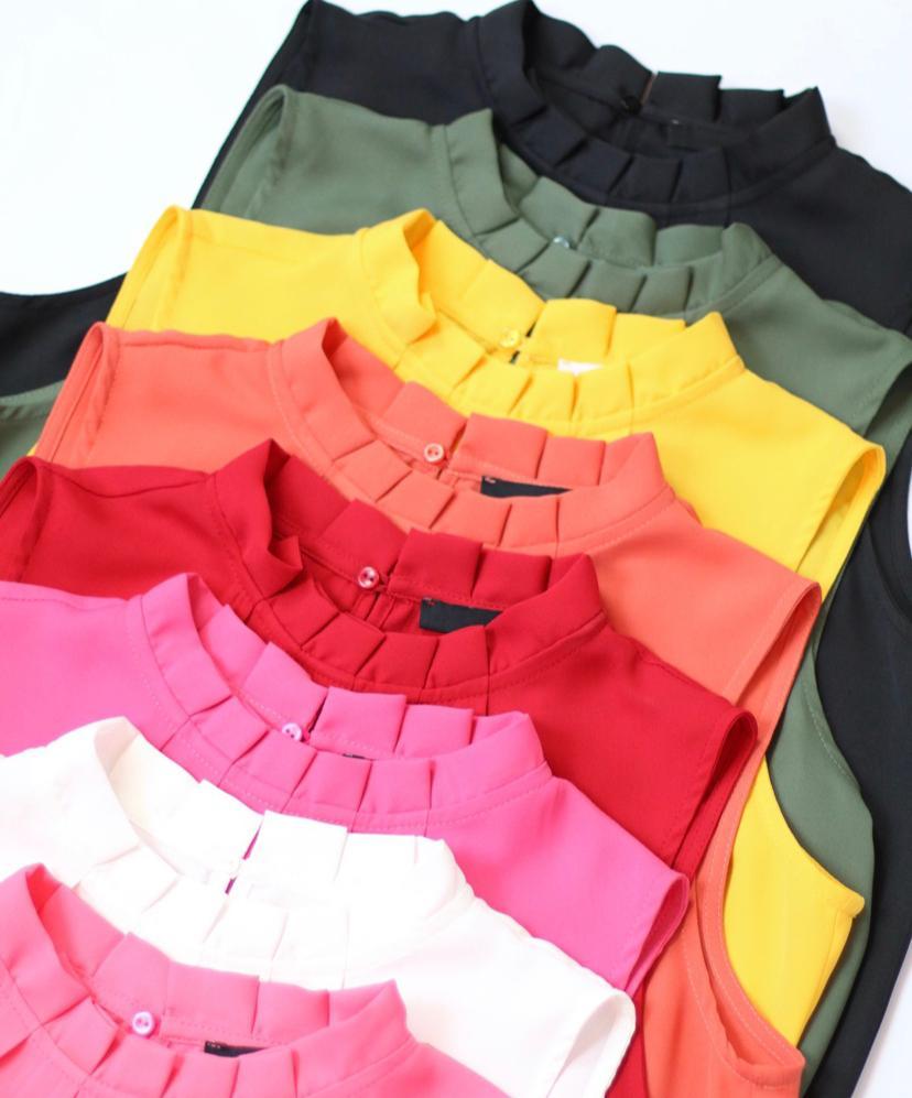 Blusa  Karen Crepe Basic