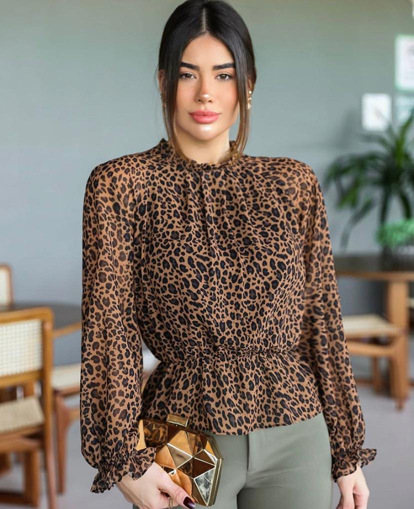 Blusa Kelly Crepe Animalprint