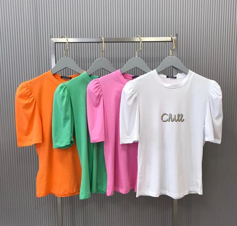 T-shirt  La Chocole Manga Bufante