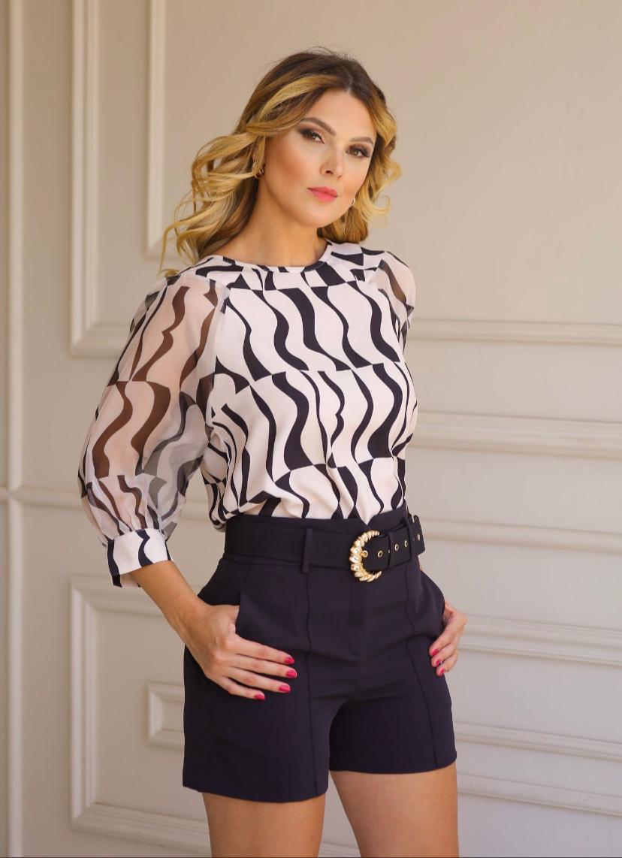 Blusa Layla Crepe Estampada
