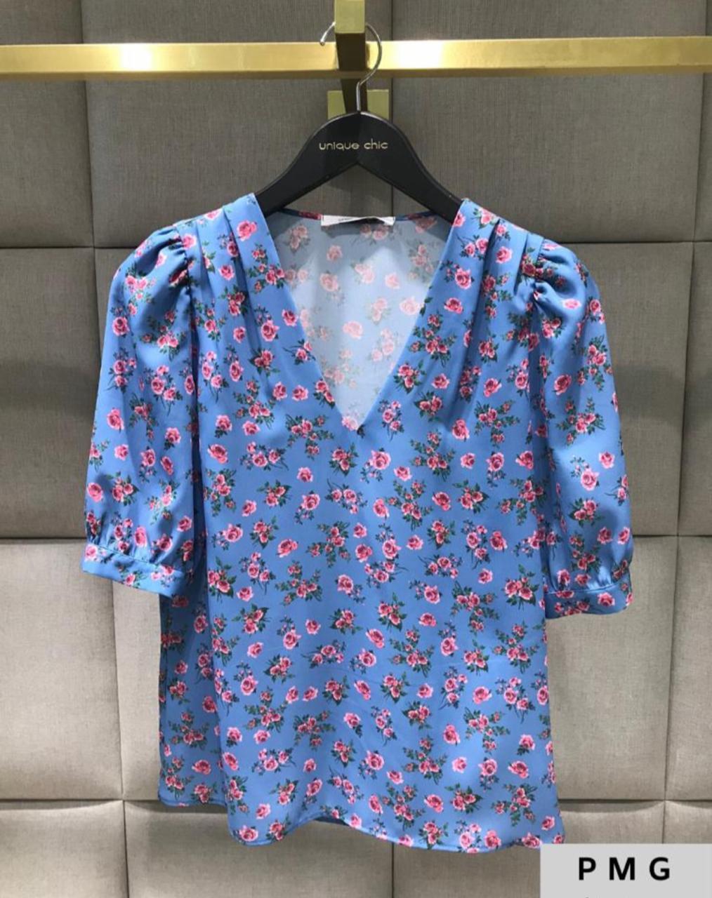 Blusa Luana Crepe Floral MG Princesa