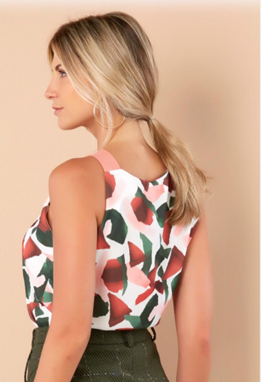 Blusa Lorena Crepe Flower