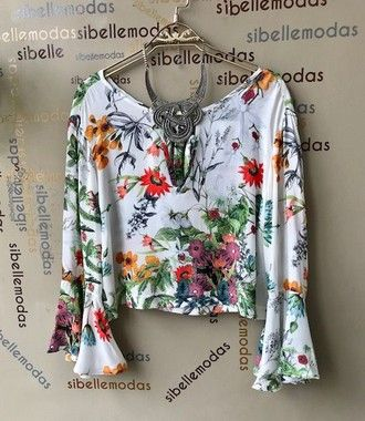 BLUSA MAGALI CROPPED FLORAL