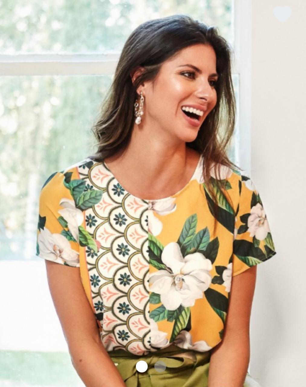 Blusa  Marcela Crepe  Print Flowers
