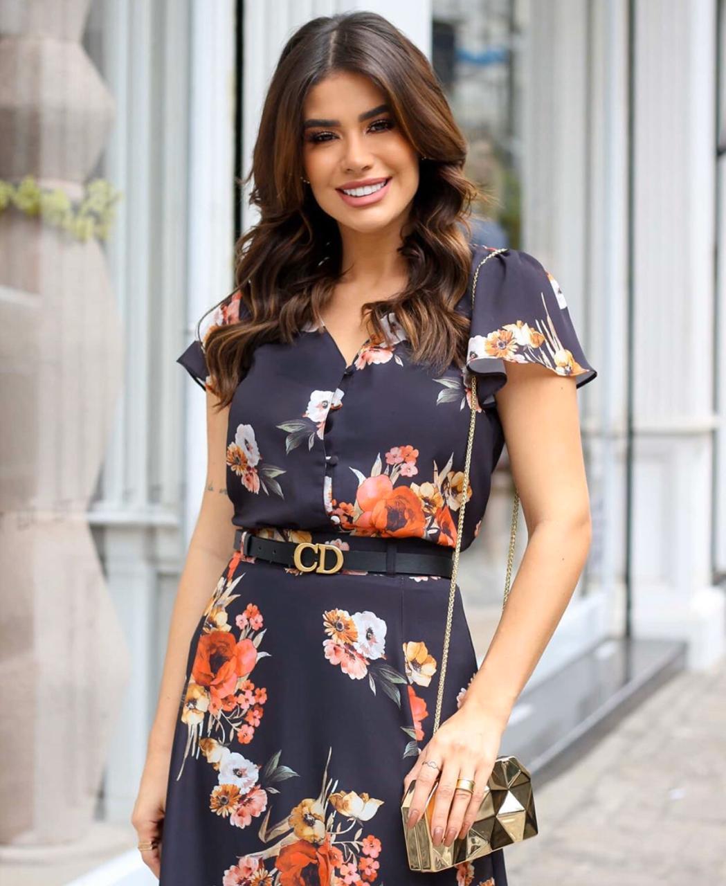 Blusa Marina Crepe Floral
