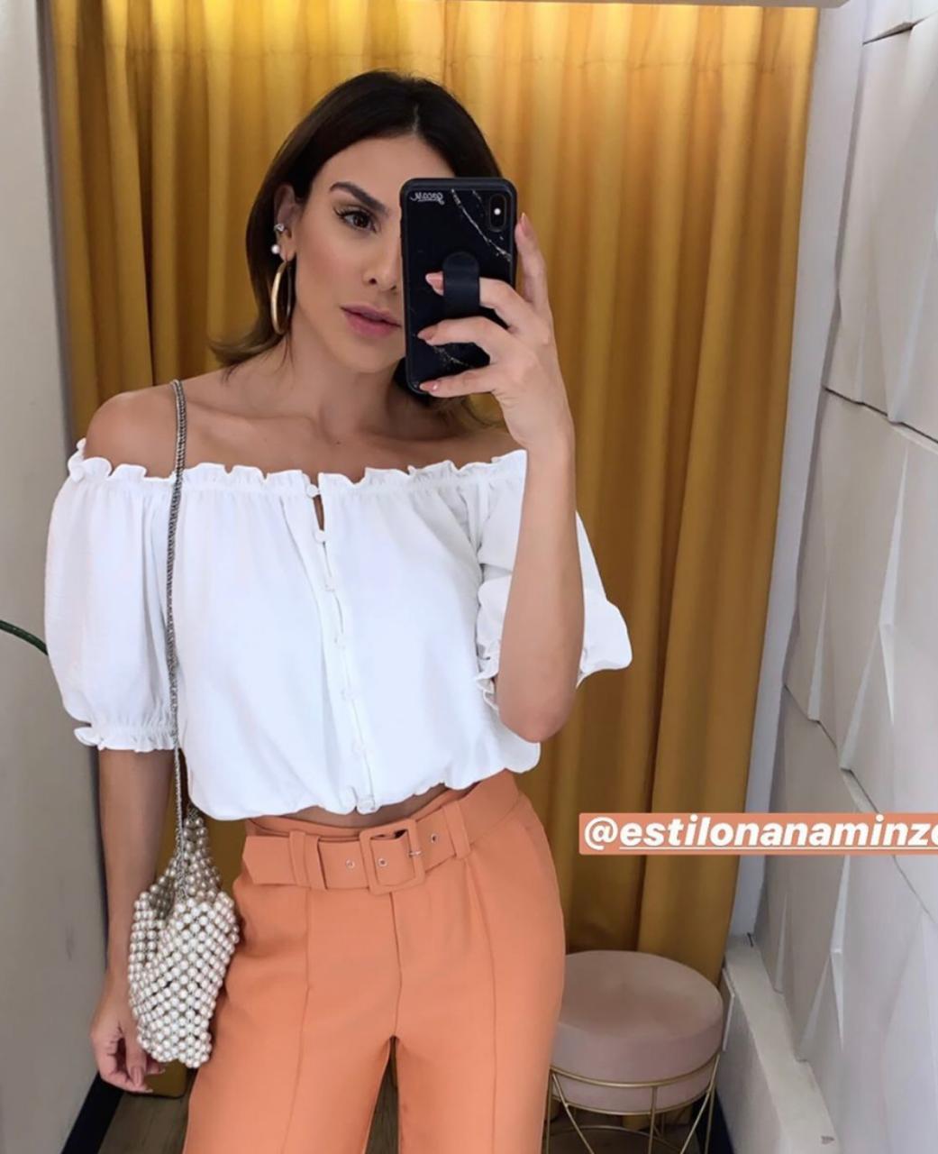 Blusa  Melanie  Crepe  Ombro a Ombro