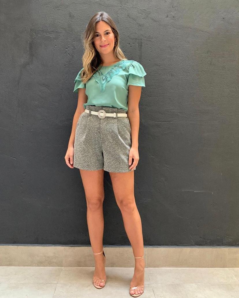 Blusa Melissa Crepe Guipir