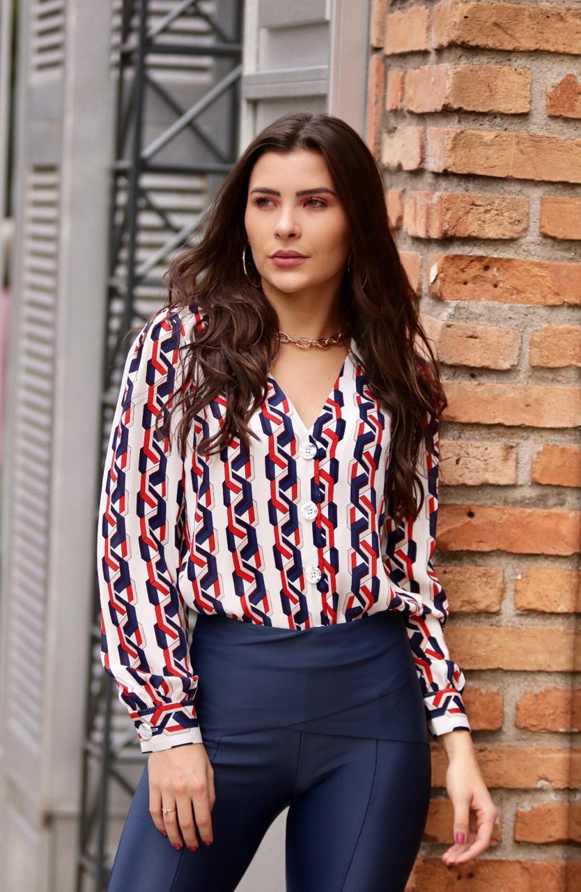 Blusa Mirela Crepe Print