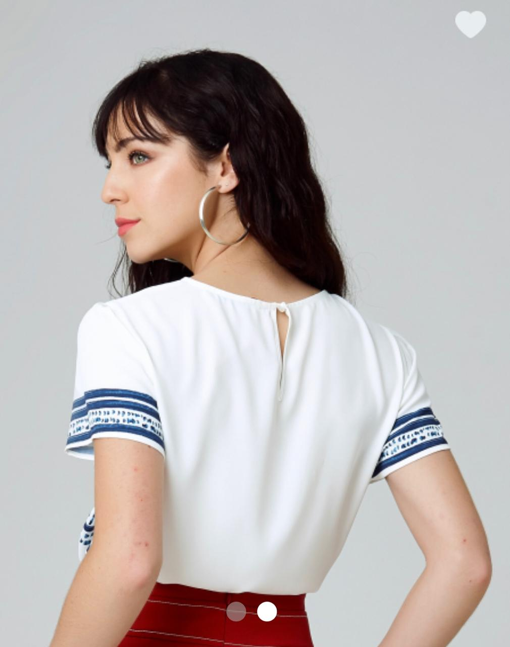 Blusa Monique Crepe Estampa Boho