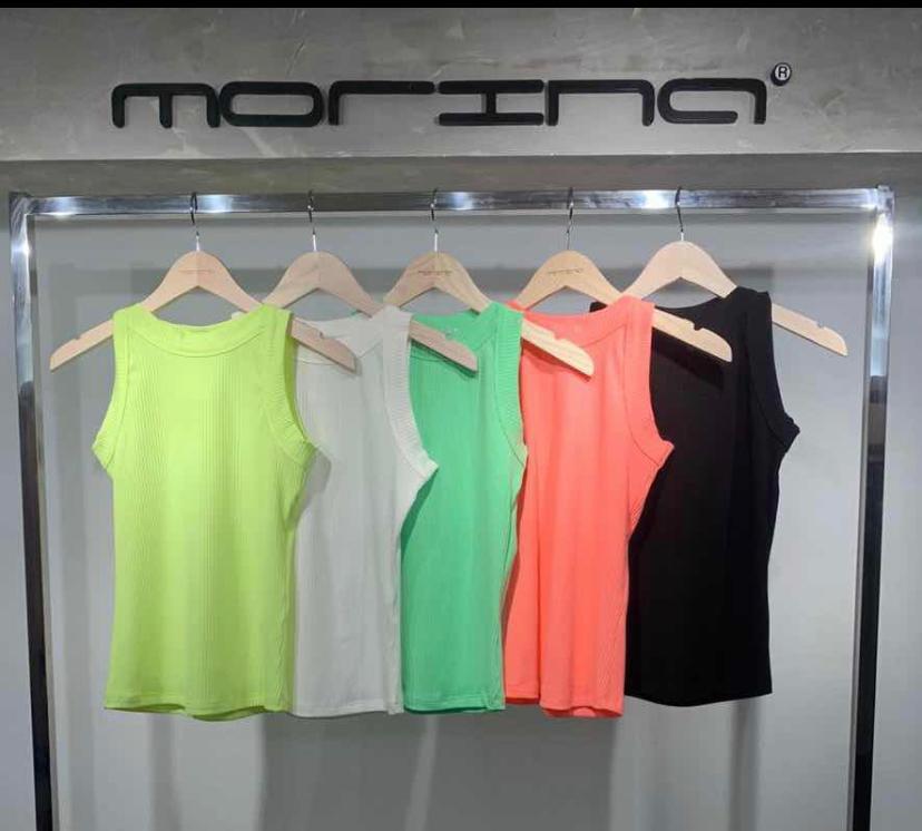 Blusa Morina Canelada Basic Neon