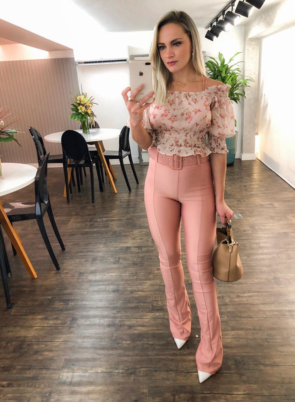 Blusa  Morina Chiffon  Ombro a Ombro  Floral