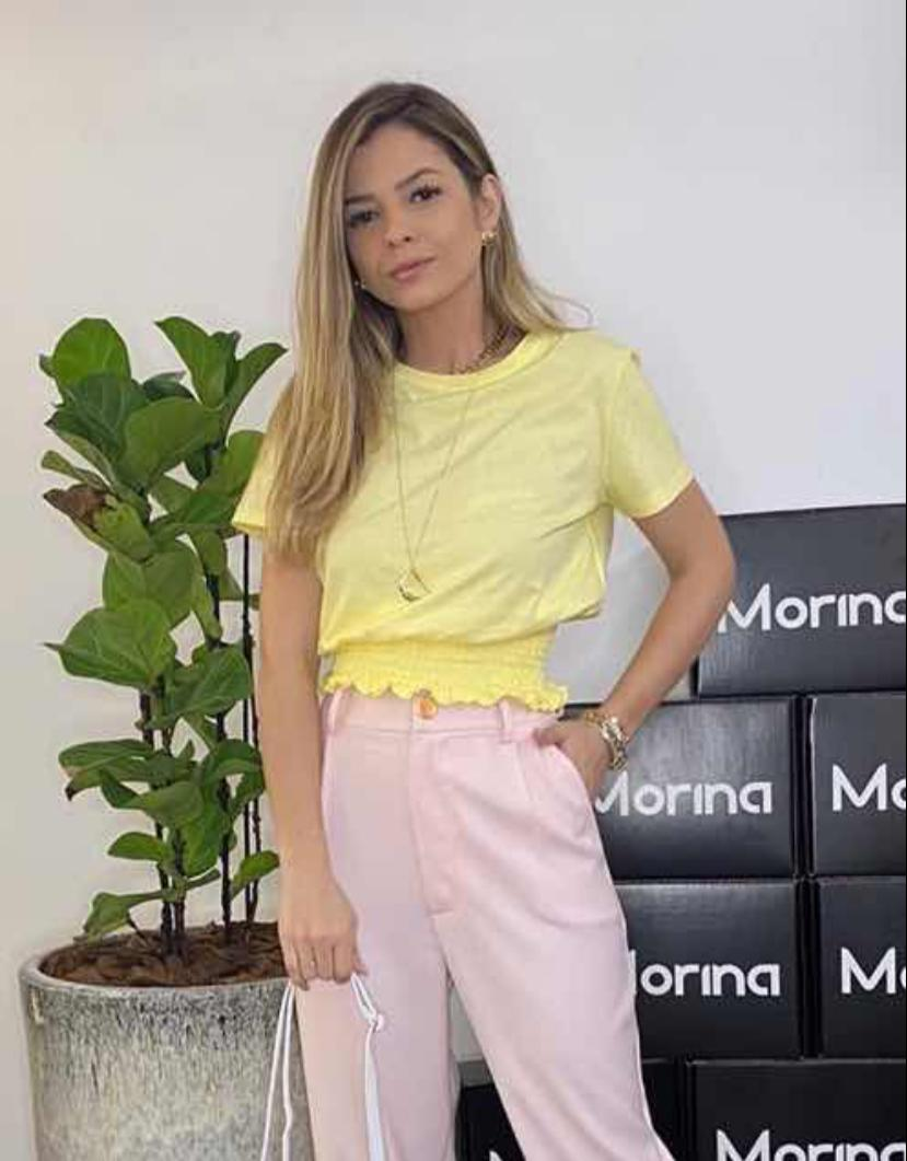 Blusa Morina Malha Com Lastex