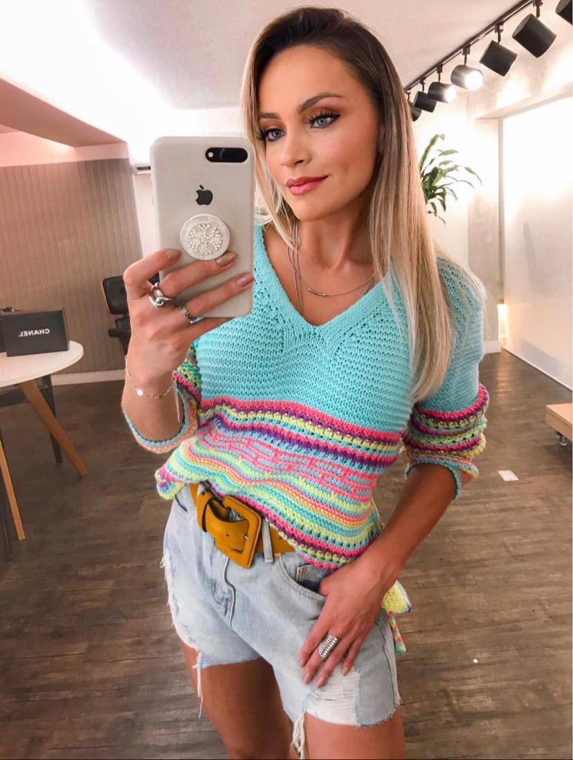 Blusa Morina Tricot  Multicolor