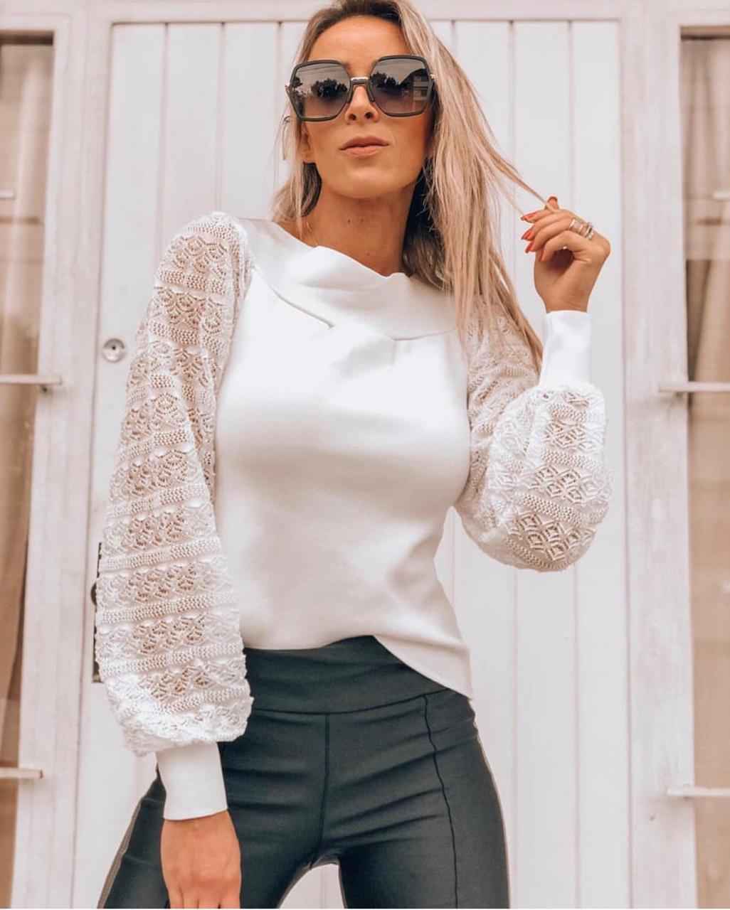Blusa Morina Tricot Rayon  luxury