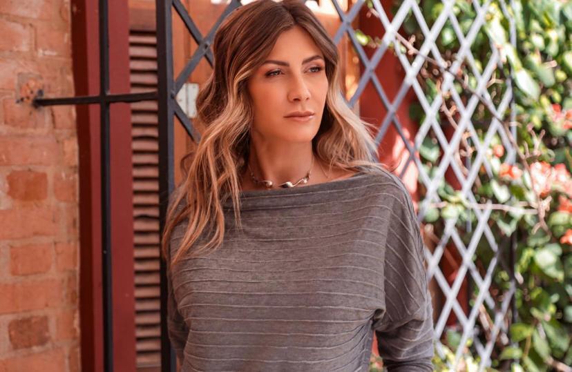 Blusa Natalia Mescla Listra