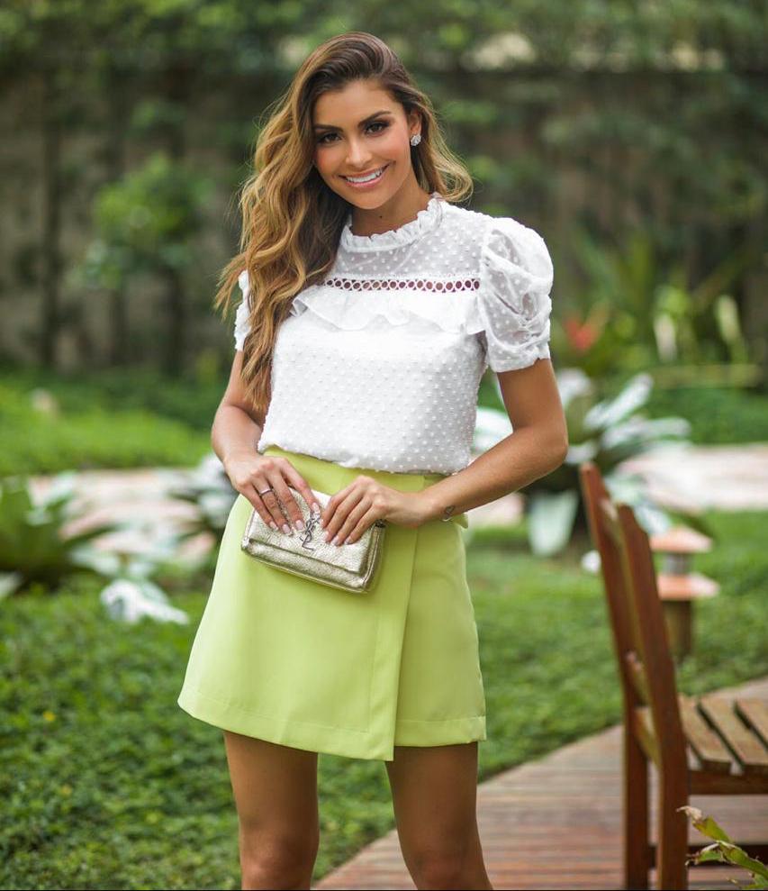 Blusa Nina Tule de Bolinha