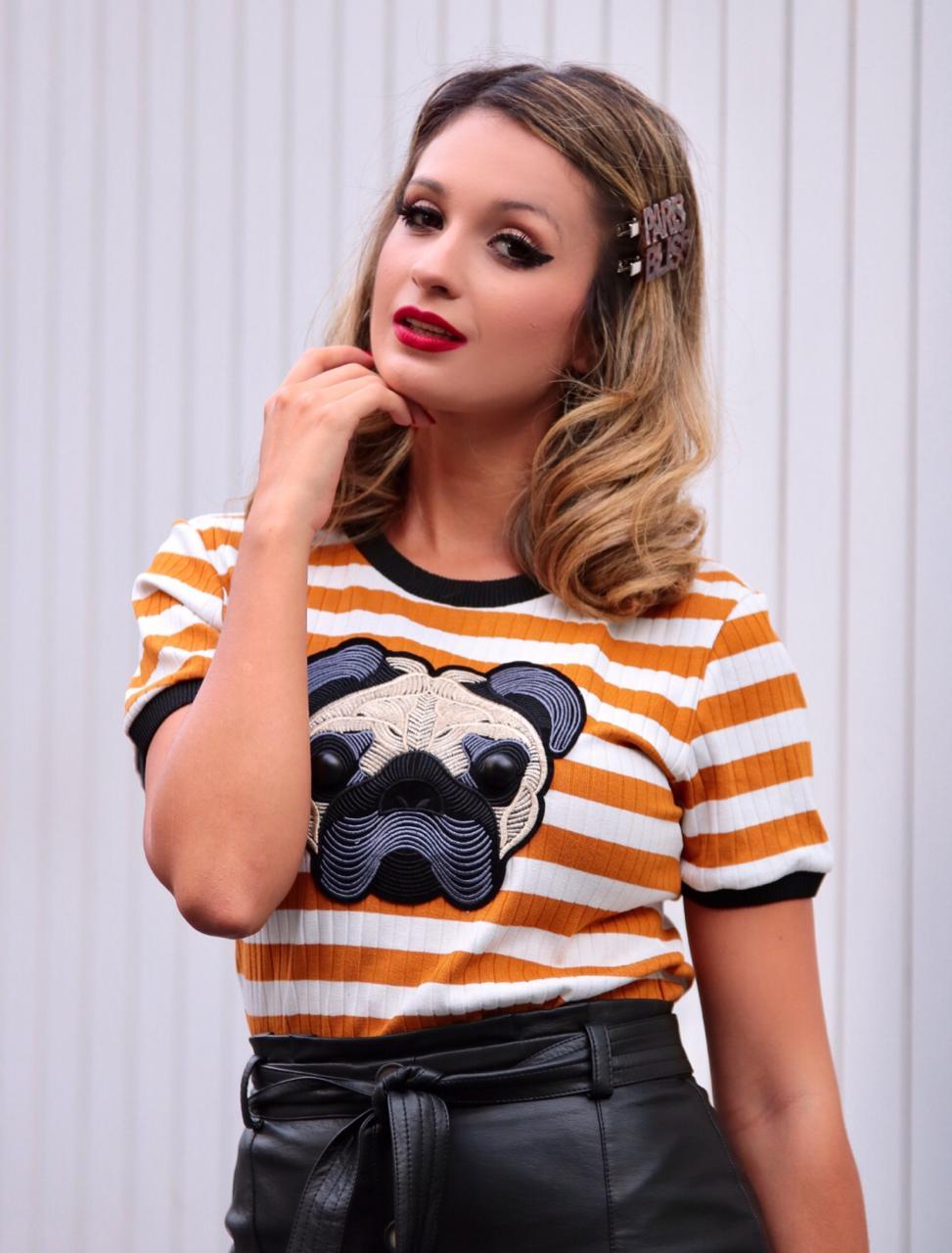T-shirt  Pug Tricot Modal Listras