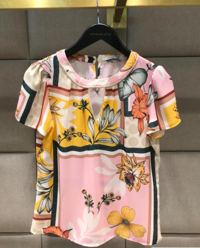 Blusa Raquel  Crepe Floral