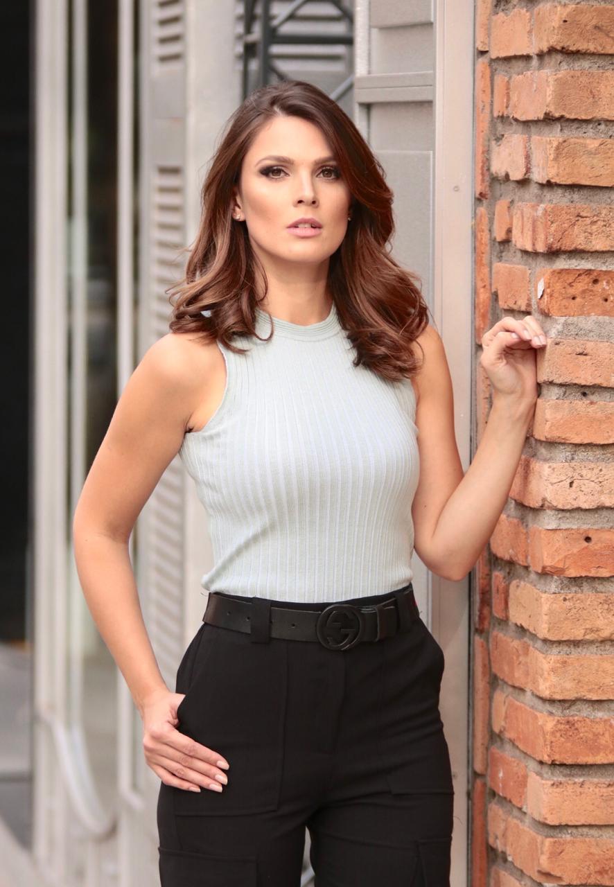Blusa  Elena tricot Canelada