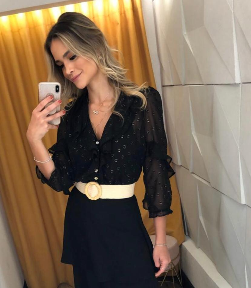 Blusa  Sabia  Crepe +Regata