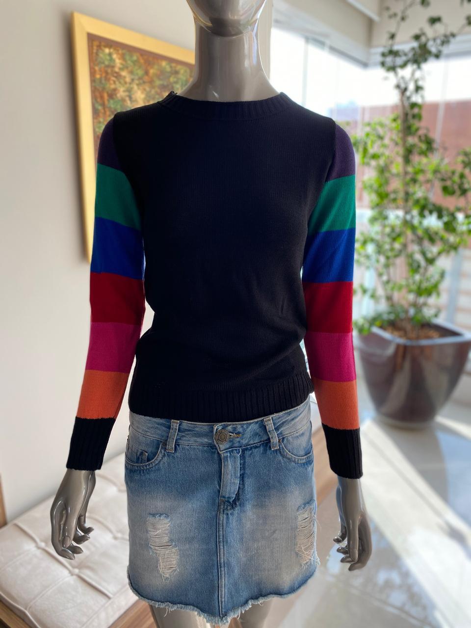 Blusa Samara Tricot  Detalhe Litras MG