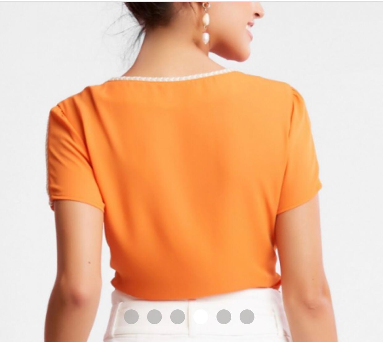 Blusa Sefora Crepe Bicolor Trança Natural
