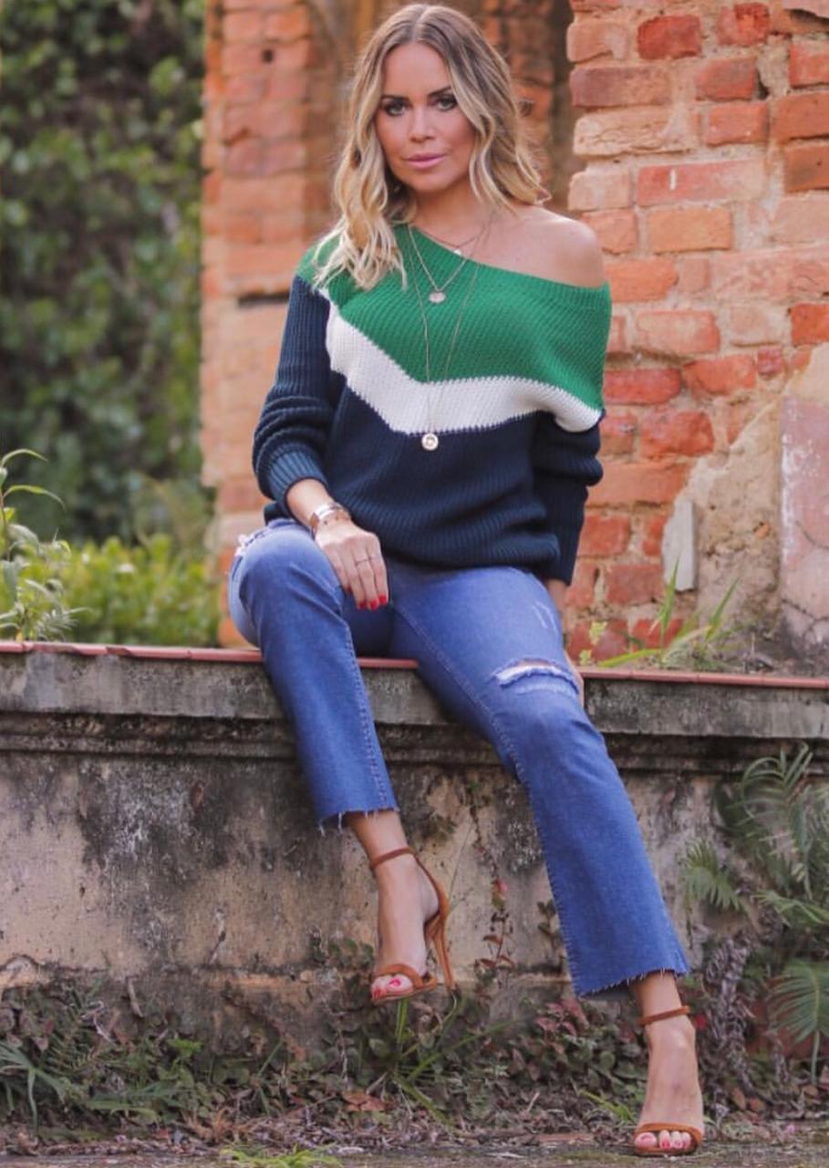 Blusa Tricot Esmeral Tricolor