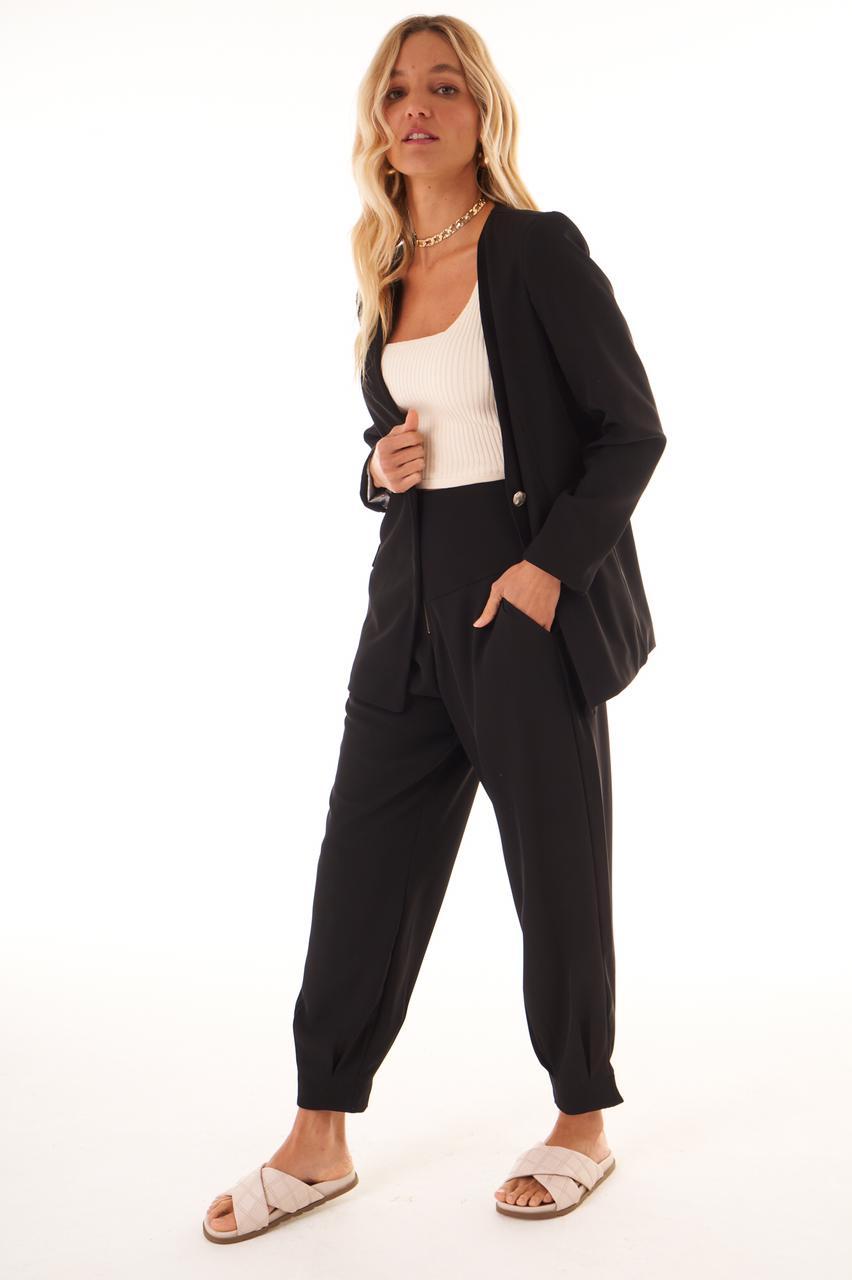 Calça Antonieta Crepe 6% Elastano Detalhe Zipper