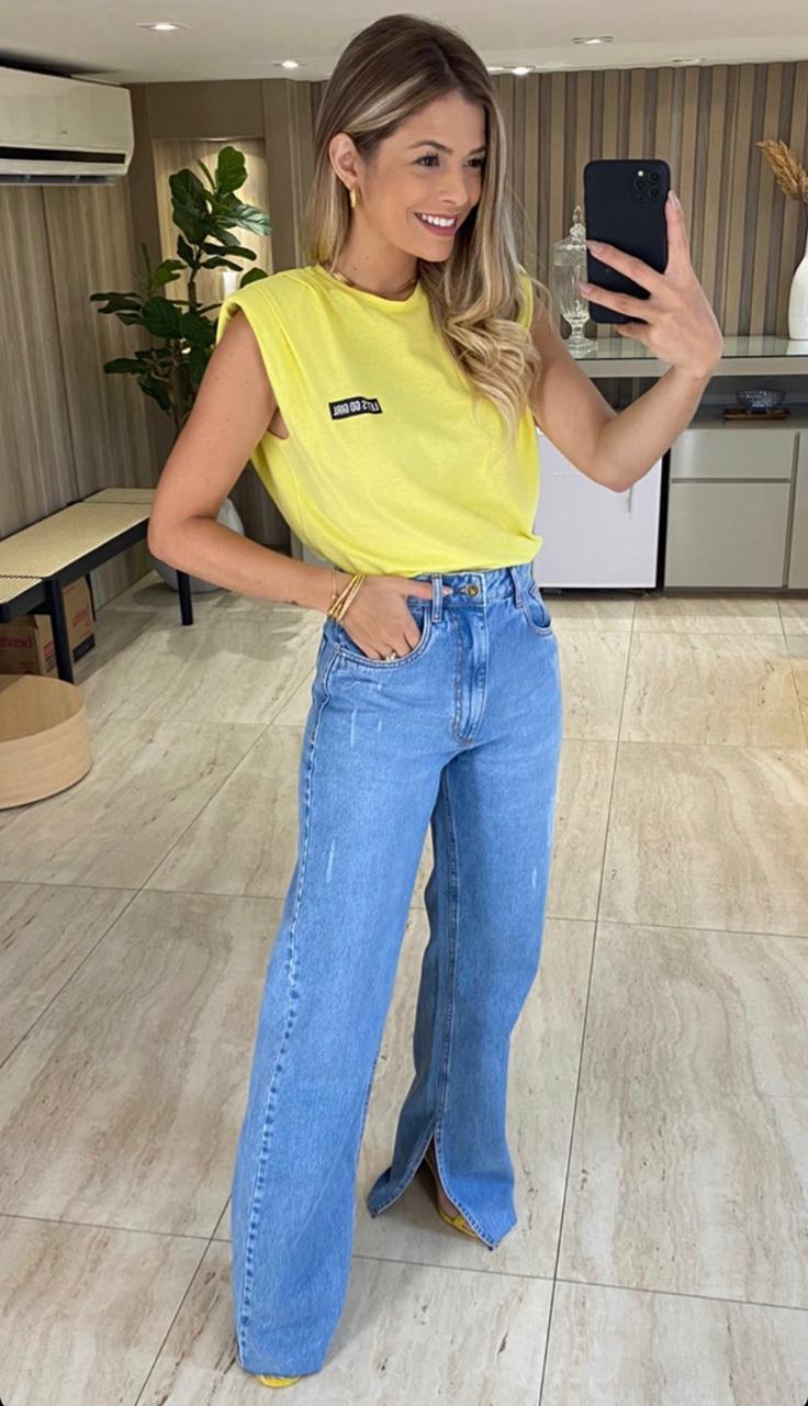Calça Esmeral Jeans Reta