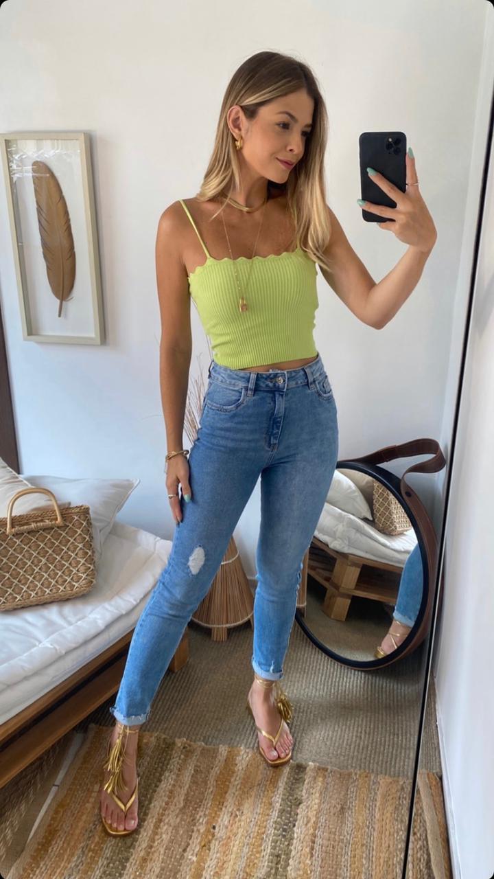 Calça Esmeral Jeans Skinny 1,3% Elastano