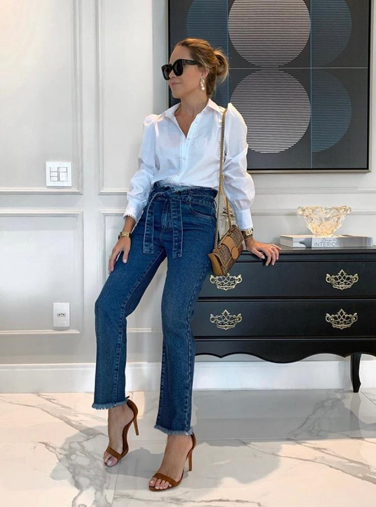 Calça Daniela Clochard Jeans + Faixa