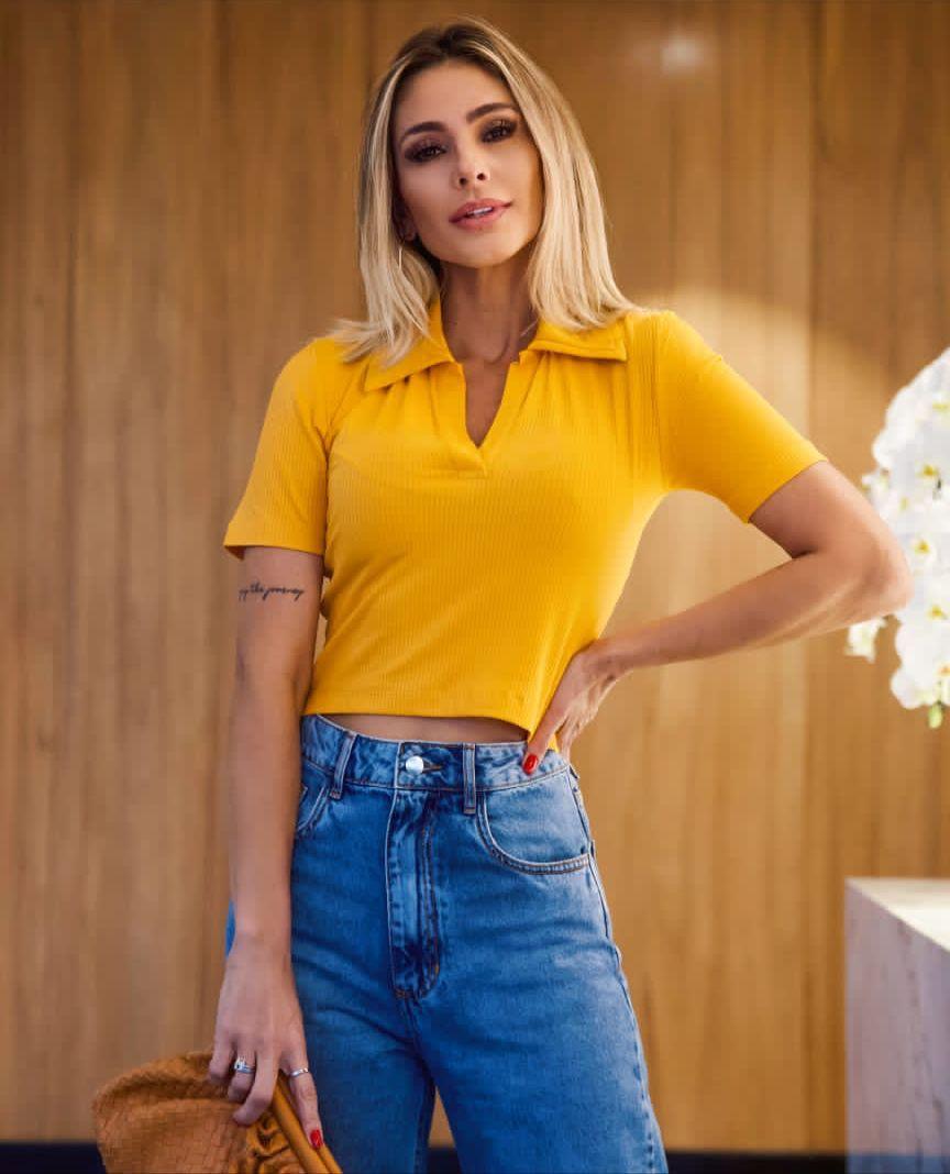 Calça  La Chocole Jeans  Basica Detalhe Fenda Lateral