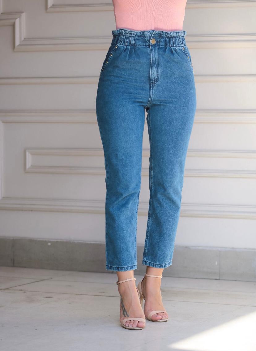 Calça Lorrane Jeans Cintura Alta